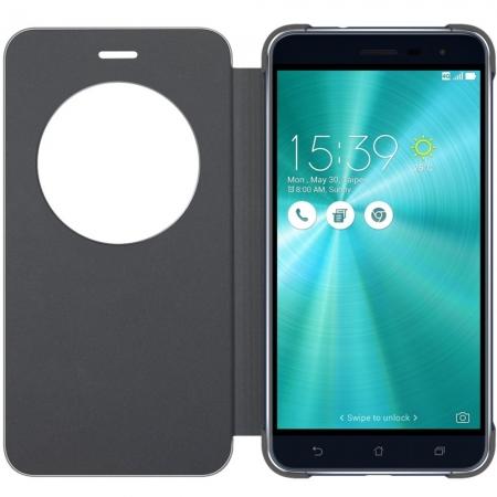 Asus - Husa tip View Flip Cover pentru Zenfone 3 ZE552KL, Negru