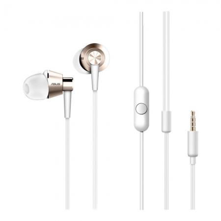 Asus ZenEar S - Casca cu fir stereo si microfon, suport Hi-Res, AHSU004, Alb