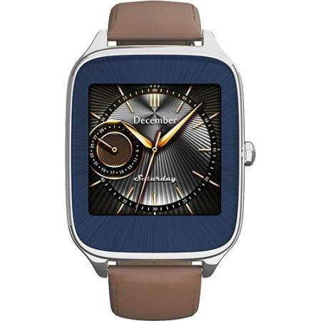 Asus ZenWatch 2 - Smartwatch Argintiu Si Curea Piele Crem