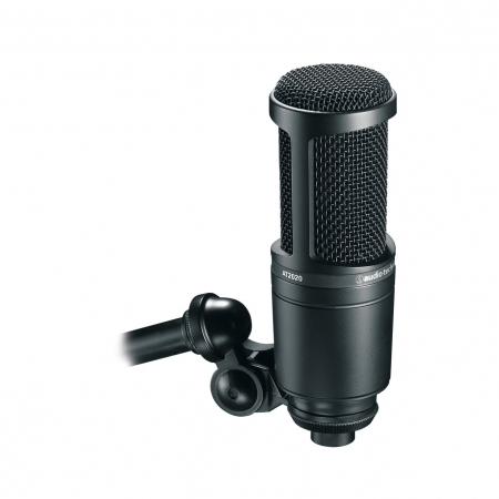 Audio-Technica AT2020 - Microfon condenser pentru studio, XLR