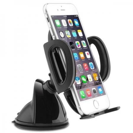 Aukey HD-C6 - Suport pentru telefon, montare pe parbriz sau bordul masinii, rotire 360 de grade