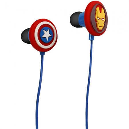 Avengers - Casti cu Fir In-Ear Iron Man/ Captain America pentru iPhone