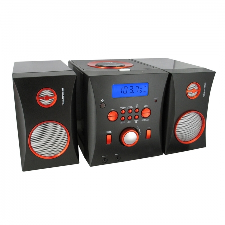 BigBen MCD06 - microsistem audio Hi-Fi negru/portocaliu