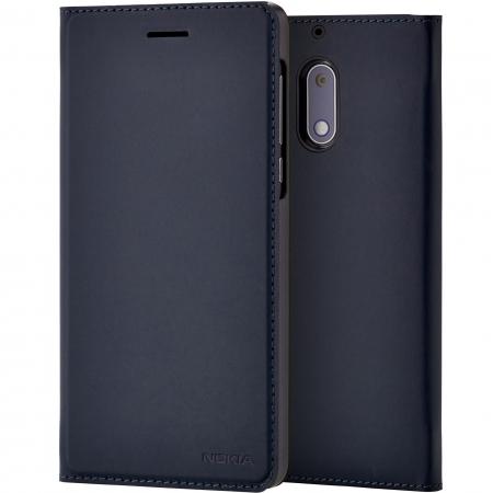 CP-302 - Husa slim tip flip pentru Nokia 5, Albastru inchis
