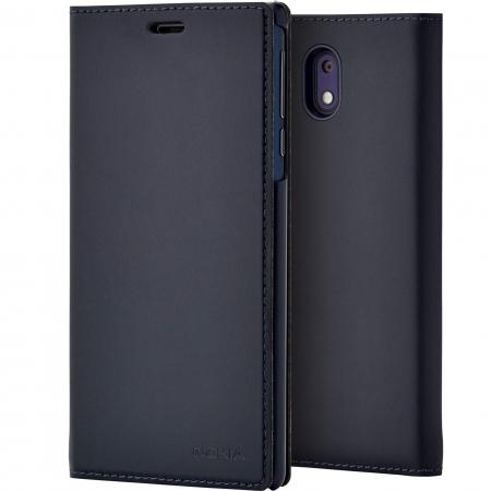 CP-303 - Husa slim tip flip pentru Nokia 3, Albastru inchis