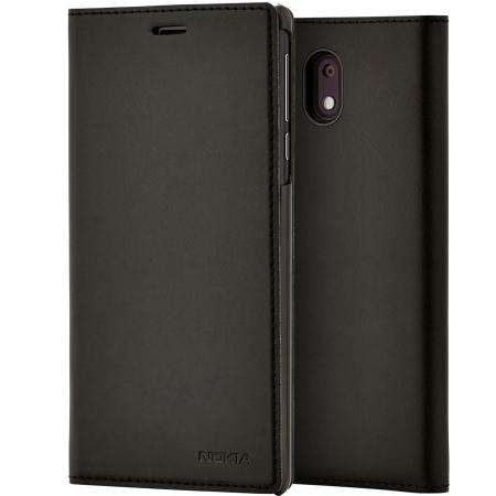 CP-303 - Husa slim tip flip pentru Nokia 3, Negru