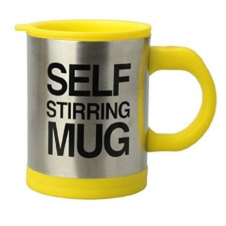 Cana Self Stirring Mug - cana galbena termoizolanta