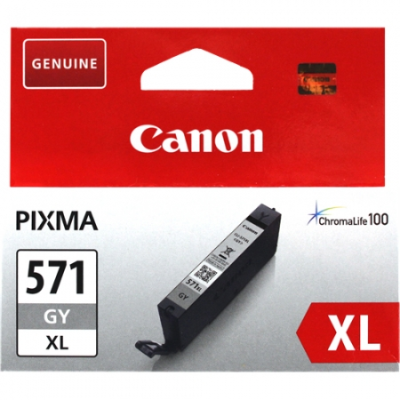 Canon CLI-571XLGY (11ml) - Pixma MG5750, MG6850, MG7750 - gri