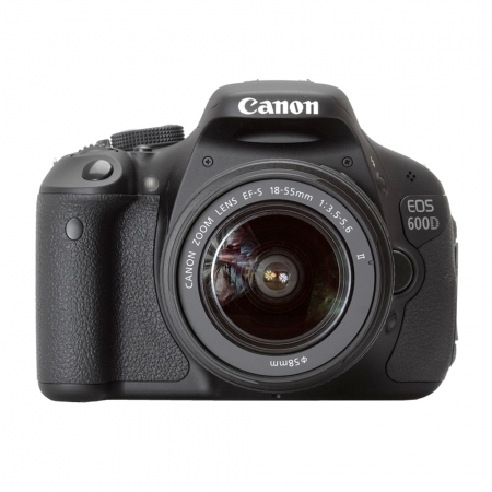 Canon EOS 600D kit EF-S 18-55mm f/3.5-5.6 IS II - 18 MPx, LCD 3 inch, 3.7 fps, LiveView, filmare Full HD