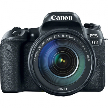 Canon EOS 77D + EF-S 18-135mm f/3.5-5.6 IS USM, Negru