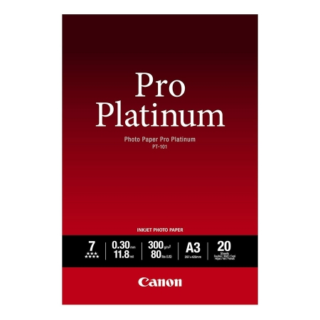 Canon Hartie foto Pro Platinum A3 20 coli 300gr (CANPT101A3)