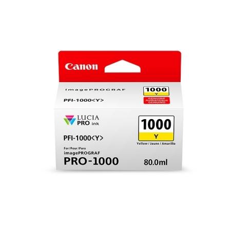Canon PFI1000Y (Yellow) - cerneala pt. PRO-1000 ImagePrograf