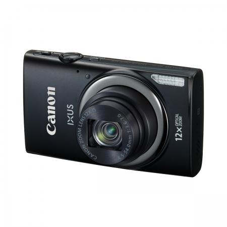 Canon Ixus 265 HS Negru - 16 Mpx, zoom optic 12x, Full HD, Wi-Fi