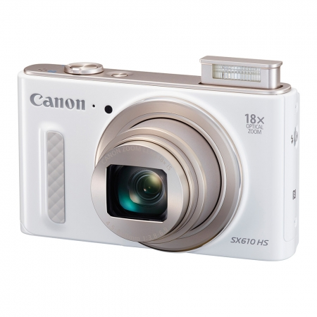 Canon PowerShot SX610 HS alb - 20 Mpx, zoom optic 18x, Full HD, Wi-Fi si NFC
