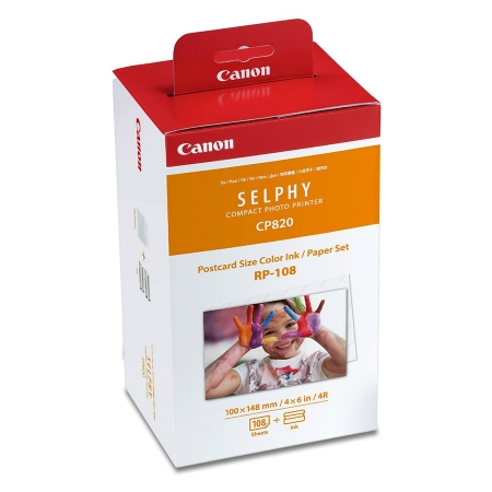 Canon RP-108 kit hartie si ribbon Canon Selphy CP910, CP1200