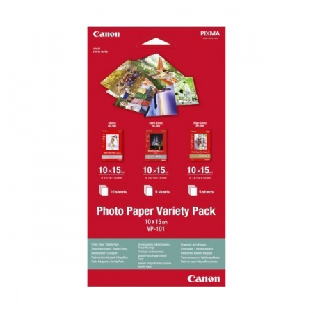Canon VP-101 Photo Paper Variety Pack 10x15 cm