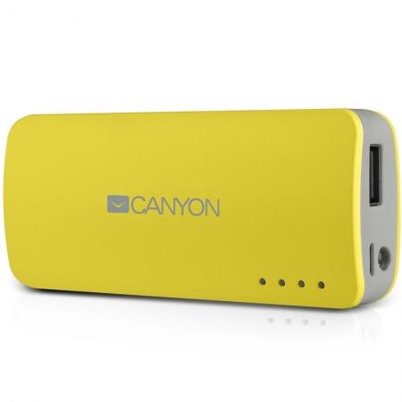 Canyon CNE-CPB44Y - Baterie externa 4400 mAh - galben