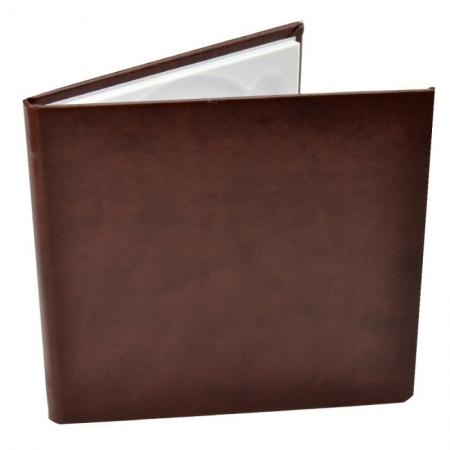 Carcasa 1 CD DVD, Piele eco, Model Clasic - Maro