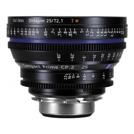 Carl Zeiss CP.2  2.1/25 T* - montura Canon EF metric