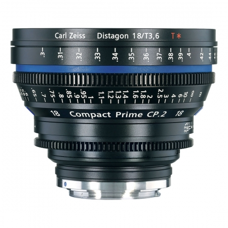 Carl Zeiss CP.2  3.6/18 T* - montura Canon EF metric