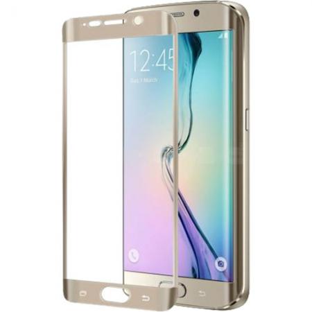 Celly Folie Protectie Sticla - Samsung Galaxy S6 Edge, auriu