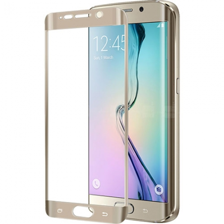 Celly Folie Protectie Sticla - Samsung Galaxy S6 Edge Plus, auriu
