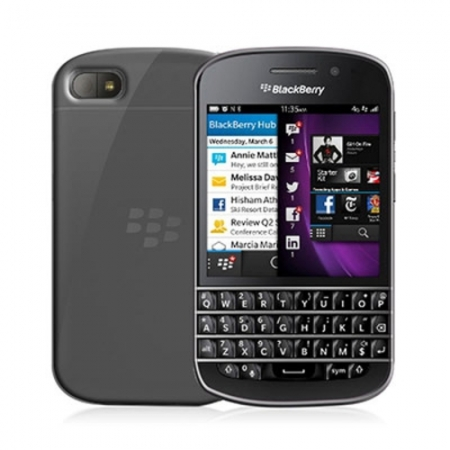 Celly Husa Capac Spate -  Blackberry Q10, transparent