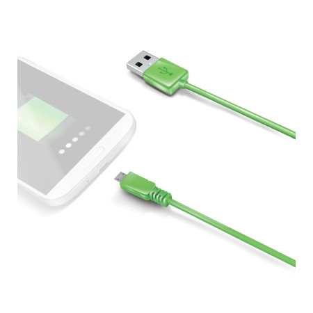Celly usbmicrog - cablu microUSB - USB, verde