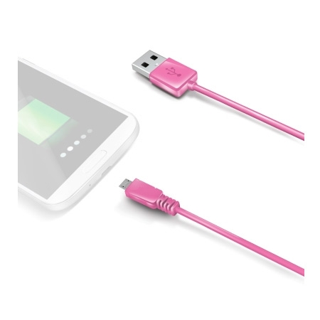 Celly usbmicrop - cablu microUSB - USB, roz