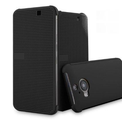 Cronos Husa Dot View pentru HTC One M9+ - Negru