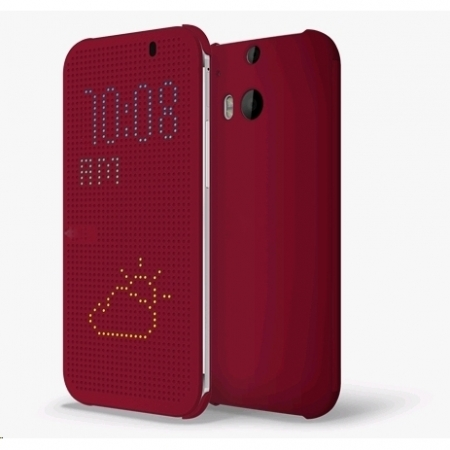 Cronos Husa dot view pentru HTC One M8 - Visiniu