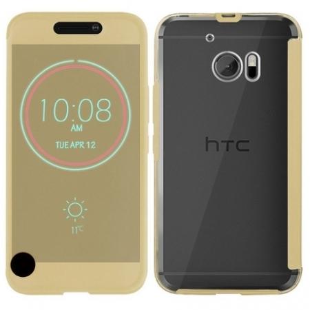 Cronos Ice View - Husa pentru HTC 10 - Auriu