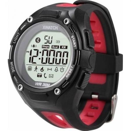 Cronos Sport eXtreme - Smartwatch waterproof - Negru/Rosu