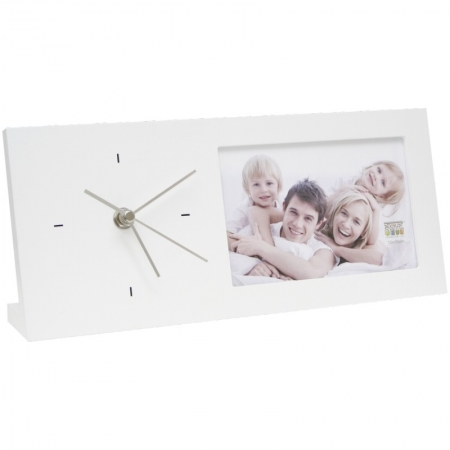 Deknudt Clock white 10x15 S66RT1 13x30 - rama foto ceas lemn