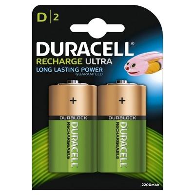 Duracell - Acumulatori D, 2200mAh, 2 buc.