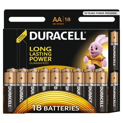 Duracell - Baterie AA LR06, 18 buc.