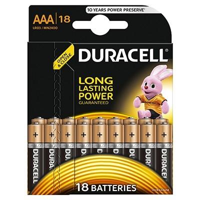 Duracell - Baterie AAA LR03, 18 buc.