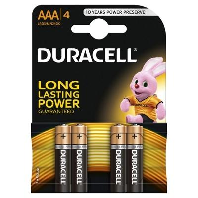 Duracell - Baterie AAA LR03, 4, buc