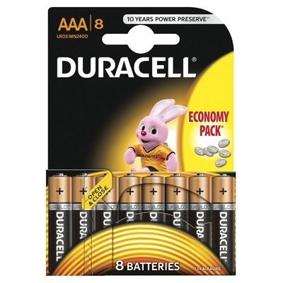 Duracell - Baterie AAA LR03, 8 buc.