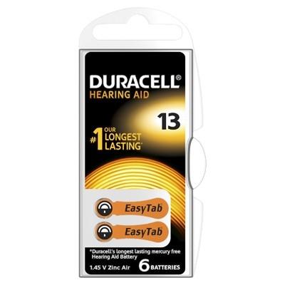 Duracell Hearing Aid - Baterie pentru Aparat Auditiv, ZA 13, 6 buc.