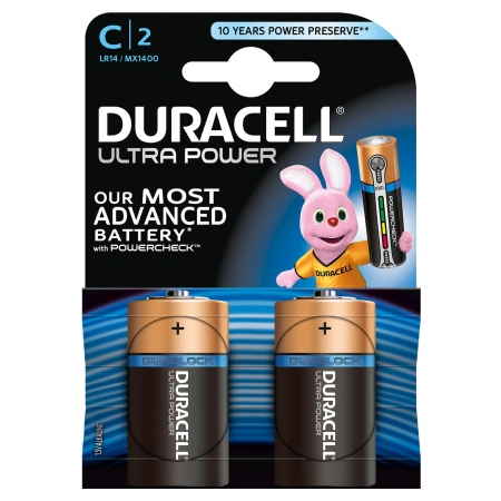 Duracell Ultra Power - Baterie C, 2 buc.