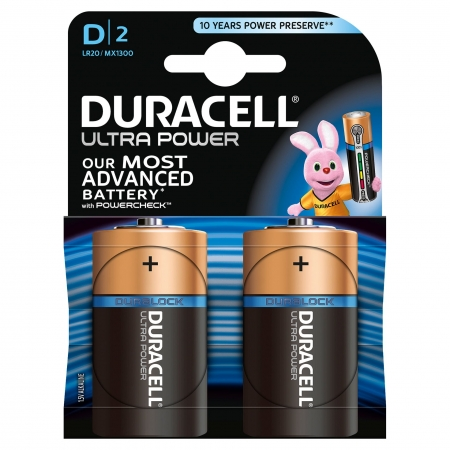 Duracell Ultra Power - Baterie D, 2 buc.