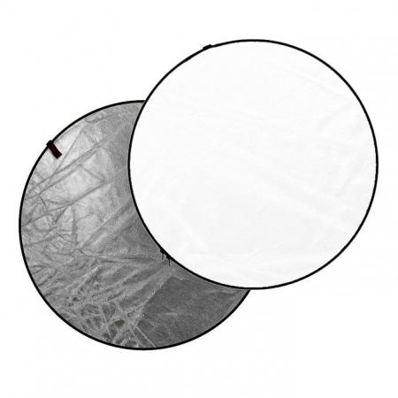Dynaphos - Blenda 2 in 1, 56cm, Alb/ Argintiu