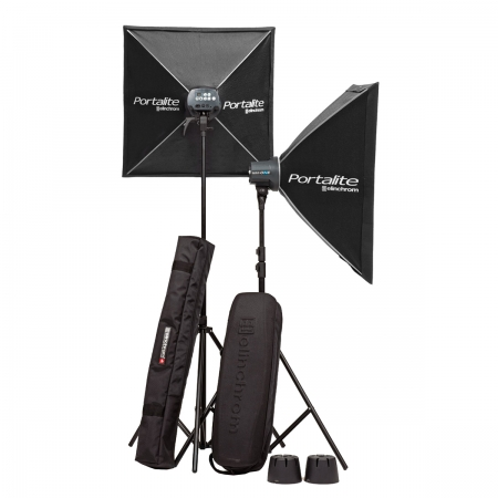 Elinchrom #20843.2 D-Lite RX ONE Softbox SET SN:012059/012350 RS1051869