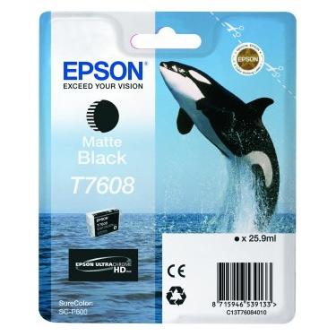 Epson  T7608 - Cartus Matte Black pentru Epson P600