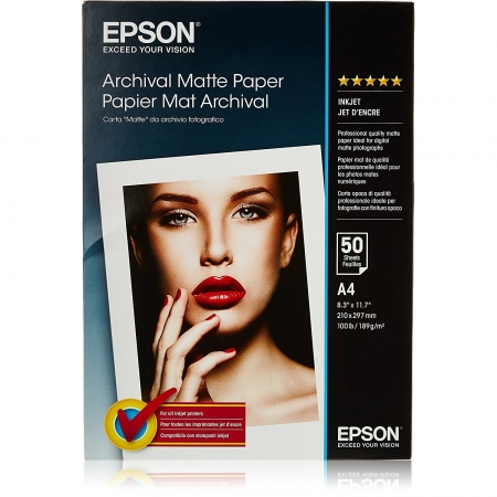 Epson Archival Matte Photo A4 50 coli 192g/mp (S041342)