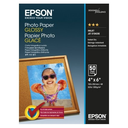 Epson Photo Paper Glossy C13S042547 10x15cm, 50 coli, 200g