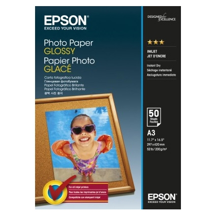 Epson Photo Paper Glossy C13S042537 A3, 50 coli, 200g