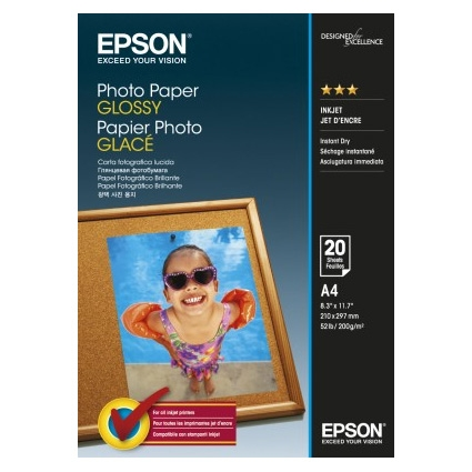 Epson Photo Paper Glossy C13S042538 A4, 20 coli, 200g