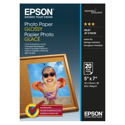 Epson Photo Paper Glossy C13S042544 13x18cm, 20 coli, 200g